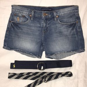 3 Piece Designer Shorts & Belts Women